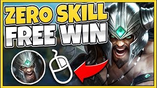 #1 TRYNDAMERE WORLD SHOWS WHY TRYND IS BROKEN! (ZERO SKILL RIGHT-CLICK) - League of Legends