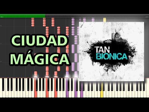 Ciudad Mágica  Tan Biónica  Piano Tutorial Synthesia