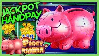 HIGH LIMIT Lock It Link Piggy Bankin' HANDPAY JACKPOT 🔒$50 Bonus Rounds Slot Machine EPIC COMEBACK