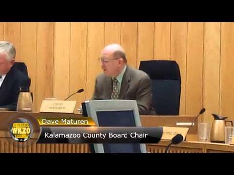 Kalamazoo County Board Newly reelected Board Chair Dave Maturen