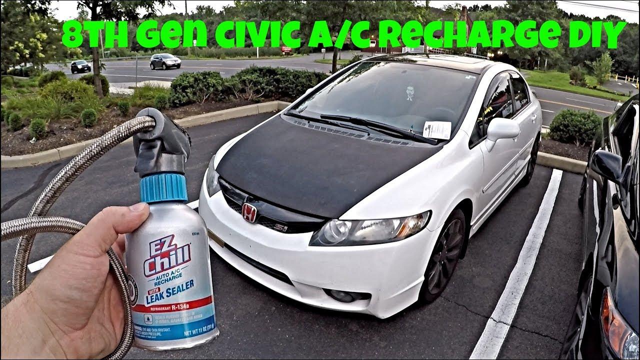 Honda Civic Si Ac Recharge Diy 2006 2017