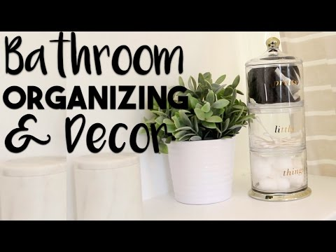 Bathroom Organization and Decorating Hacks | Making the MOST of our Small Bathroom
