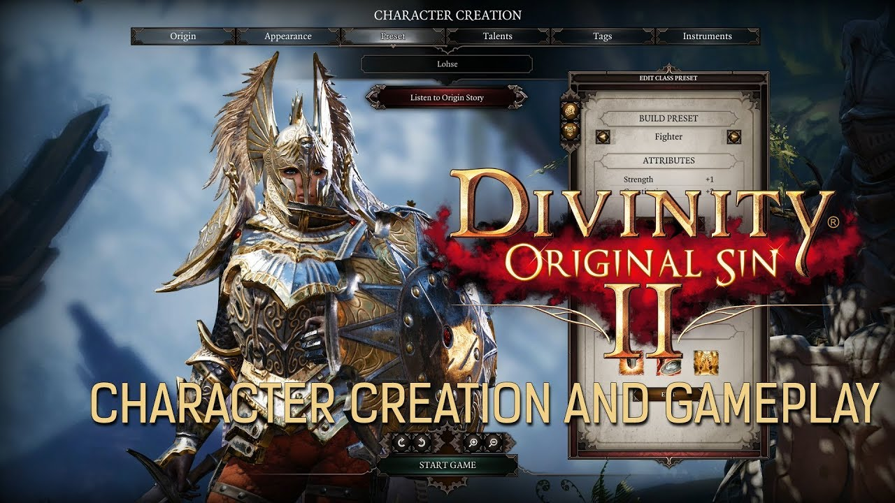 Divinity Original Sin 2 - Character Creation and Gameplay First Look