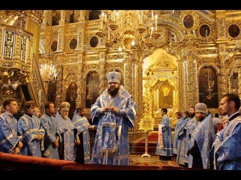 Всенощное бдение архиерейским чином в канун празднования Почаевской иконы Богородицы