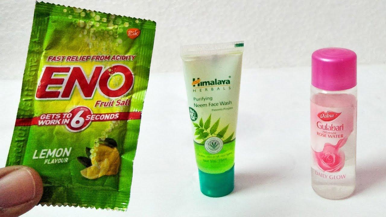 Amazing ENO ROSEWATER NEEM FACE WASH CREAM HACKS Beauty Tips YOU HAD NO IDEA   FAIR SKIN WITH ENO