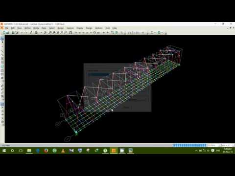 How to design a steel truss bridge model in SAP2000 Lecture 2 by Aziz vaia BUET'09