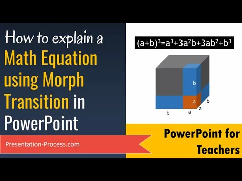 Explain A Math Equation With PowerPoint Morph Transition (Office 365)