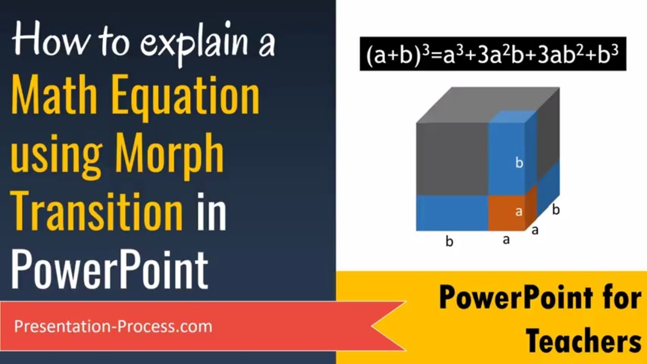 explain a math equation with powerpoint morph transition office 365