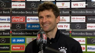 """You have to show it on a windy night in Stoke!"" Thomas Müller's hilarious take on Bayern display"
