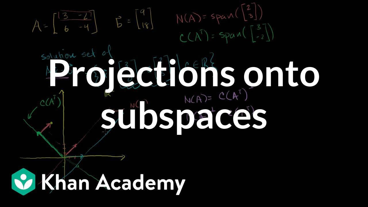 medium resolution of Linear Algebra: Projections onto Subspaces (with worksheets