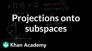 Projections onto subspaces | Linear Algebra | Khan Academy
