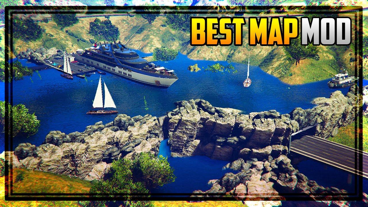 GTA 5 BEST & MOST DETAILED MAP MOD! (Underwater Mafia Headquarters)