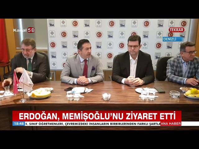 Kanal 58 DTO Başkanı Erdoğan, DENİB Başkanı Memişoğlu'nu ziyaret etti 18 10 2018
