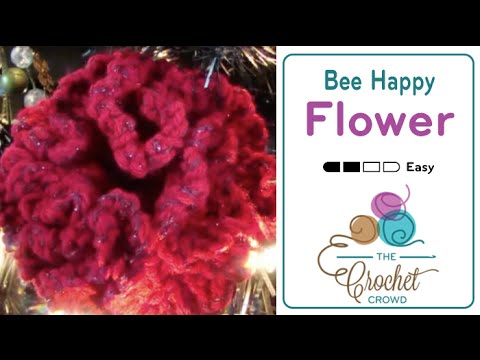 How To Crochet A Flower Be Happy Flower Youtube