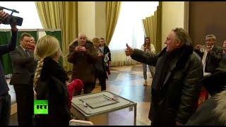 Жерар Депардье проголосовал на выборах президента России в Париже