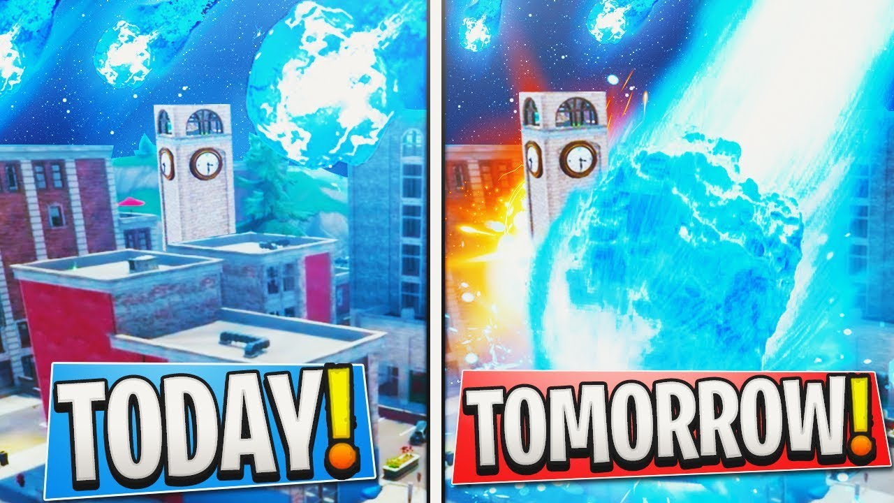 New Meteor Date Confirmed Destroying Tilted Towers In Fortnite