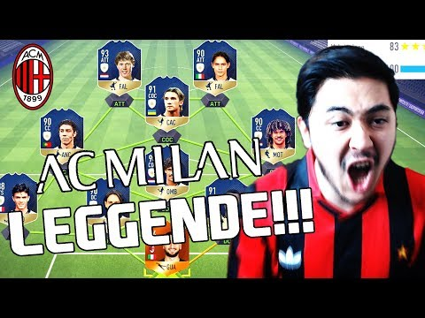 LA SQUADRA LEGGENDARIA DEL MILAN!!! EMOZIONI INFINITE!!! FIFA 18 Ultimate Team