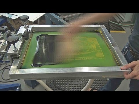 Screenprinting Paper Posters With A Textile Press And Vacuum Pallet