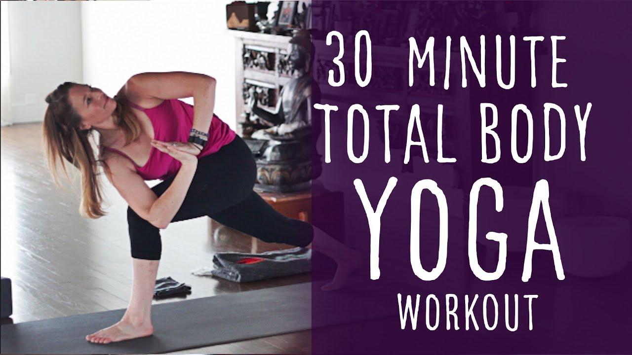30 Minute Total Body Yoga Workout (Intermediate vinyasa Flow Class) |  Fightmaster Yoga Videos