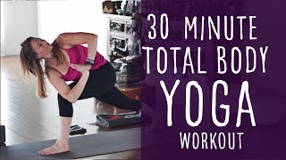 30 Minute Total Body Yoga Workout (intermediate) with Fightmaster Yoga