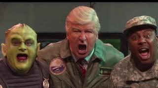 Watch Alec Baldwin's Trump Bungle Alien Invasion on 'SNL'