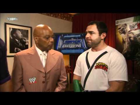 WWE SmackDown 01/06/12 | Aksana, Ryder, McIntyre, Marella & Long backstage