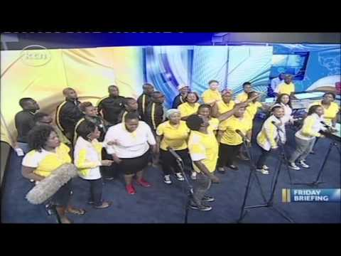 Joyous Celebration choir visits KTN Studios