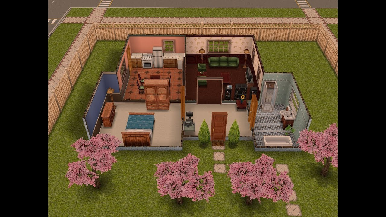 The sims freeplay one bedroom home youtube for New build 2 bedroom house