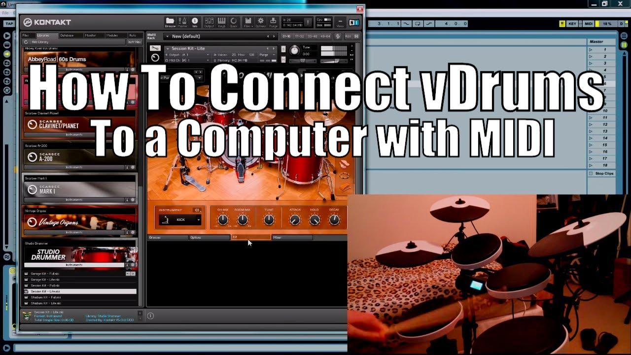 How to connect drums to computer with MIDI USB
