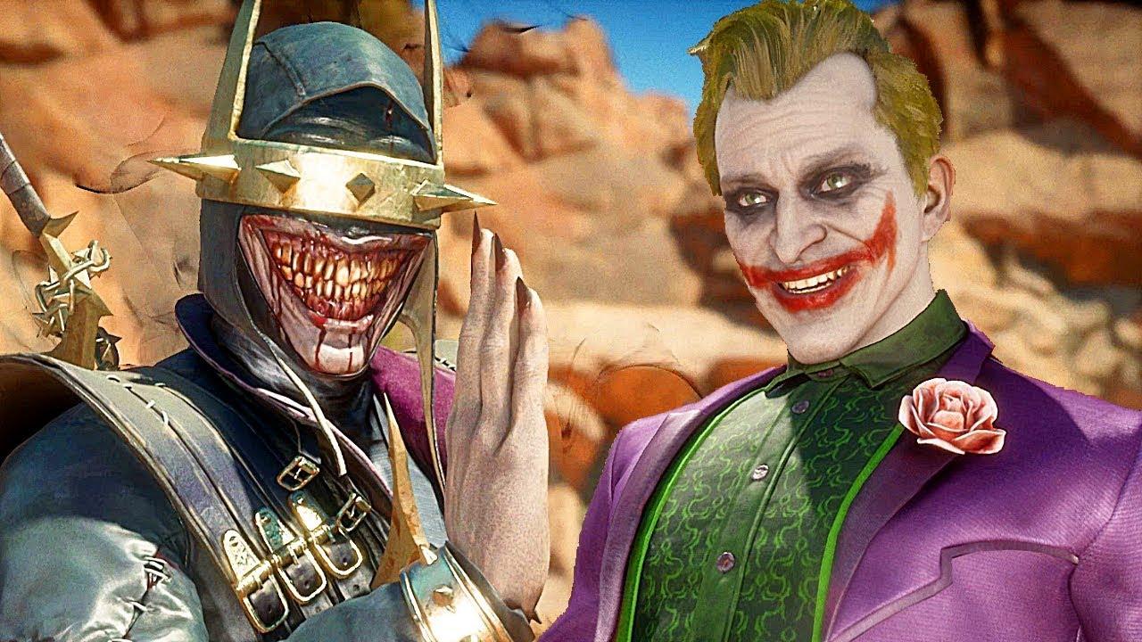 Mortal Kombat 11 Batman, der lacht Haut gegen Joker Gameplay Sehr schwer Schwierigkeitsgrad MK11 + video