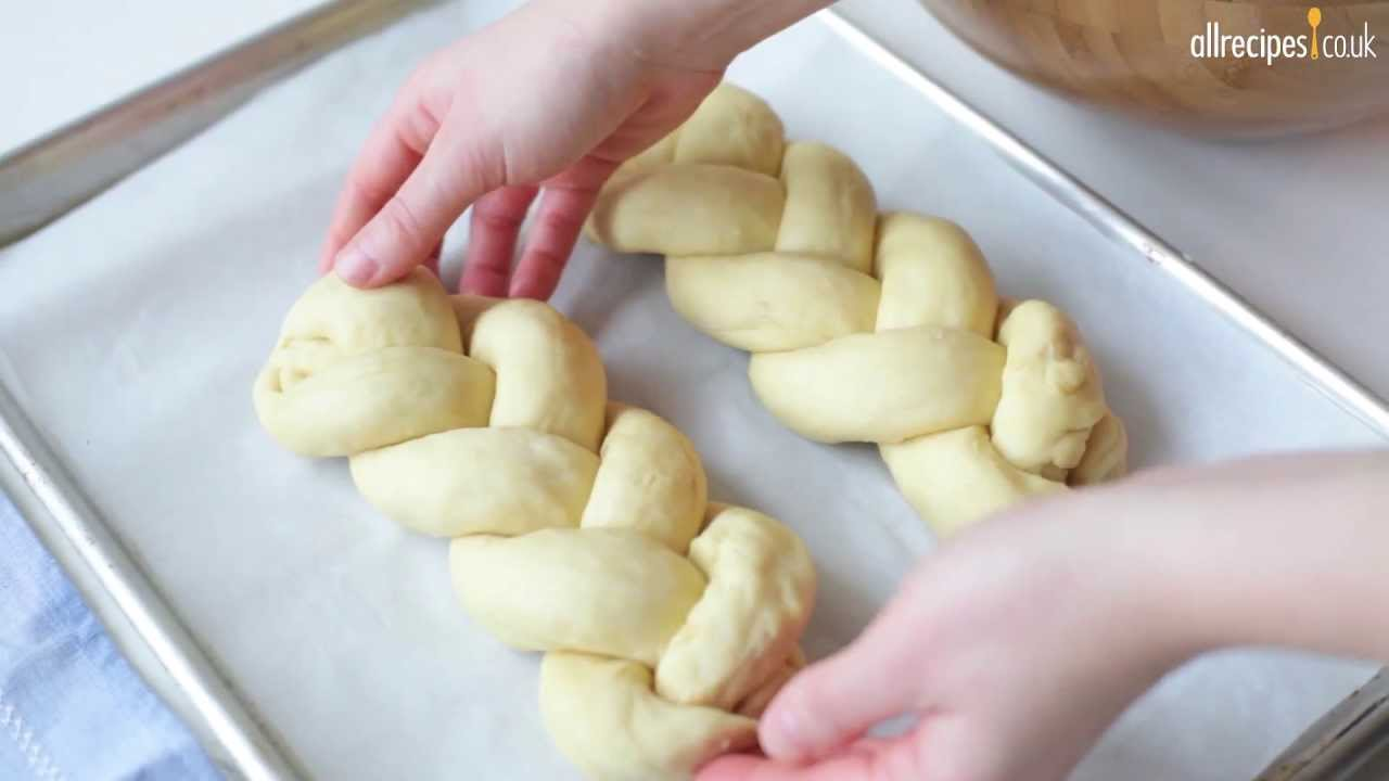 Plaited Sesame Challah Bread Recipe Youtube