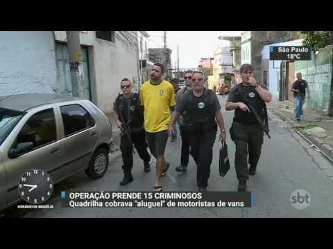 Polícia desarticula quadrilha que cobrava ´aluguel´ de motoristas de vans - SBT Brasil (19/04/17)