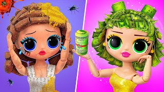 Rich vs Broke LOL Surprise Hairstyles