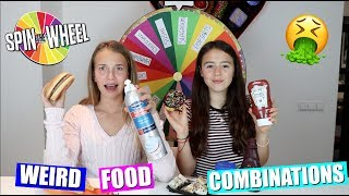 MYSTERY WHEEL OF WEIRD FOOD COMBINATIONS! | GEKKE VOEDSEL COMBINATIES PROBEREN! thumbnail