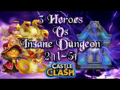 Castle Clash 3 Heroes Vs Insane Dungeon 2 ( 1-5 )