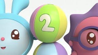 Умные песенки - Малышарики - Число два | Мультики для самых маленьких