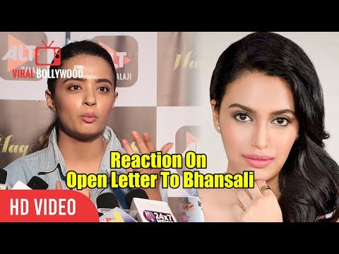 Surveen Chawla Reaction On Swara Bhaskar's Letter Open Letter To Sanjay Leela Bhansali