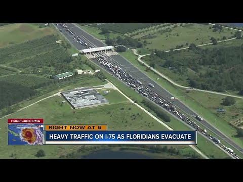 Heavy traffic on I-75 as Floridians evacuate