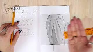 Моделирование юбки-тюльпан