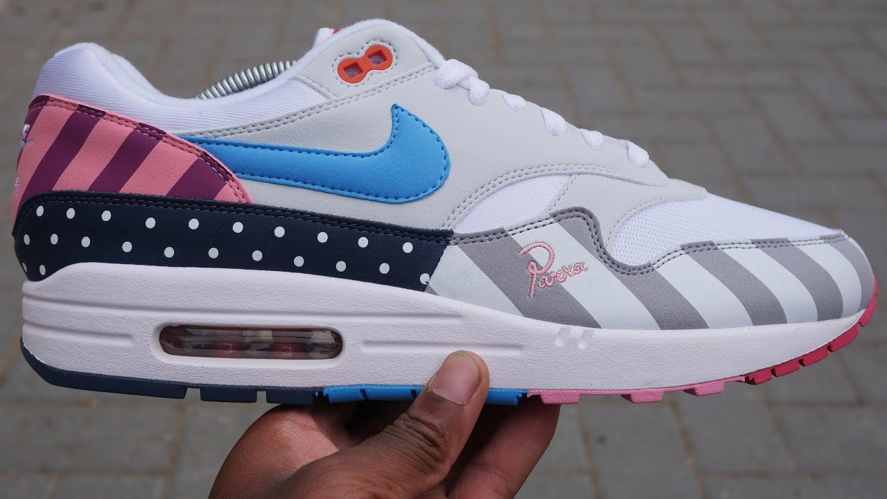 Nike X Parra Air Max 1 Quick Look On Feet White Multi 2018