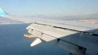 Анталья аэропорт Antalya(Пролетаем город Анталья (Antalya) ТУРЦИЯ и совершаем посадку. далее нас ждет КЕМЕР.