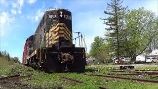 ND&W Railroad PREX 1601 Creeps Down Bad Track IN Napoleon Ohio