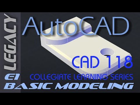 E1 AutoCAD 2016 Basic Solid Modeling Tutorial