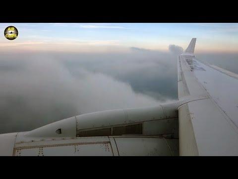 Cubana Tu204 Scenic Landing into Havana dusk - great PS-90 engine views! [AirClips]