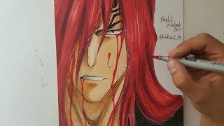 Drawing Renji Abarai - Bleach