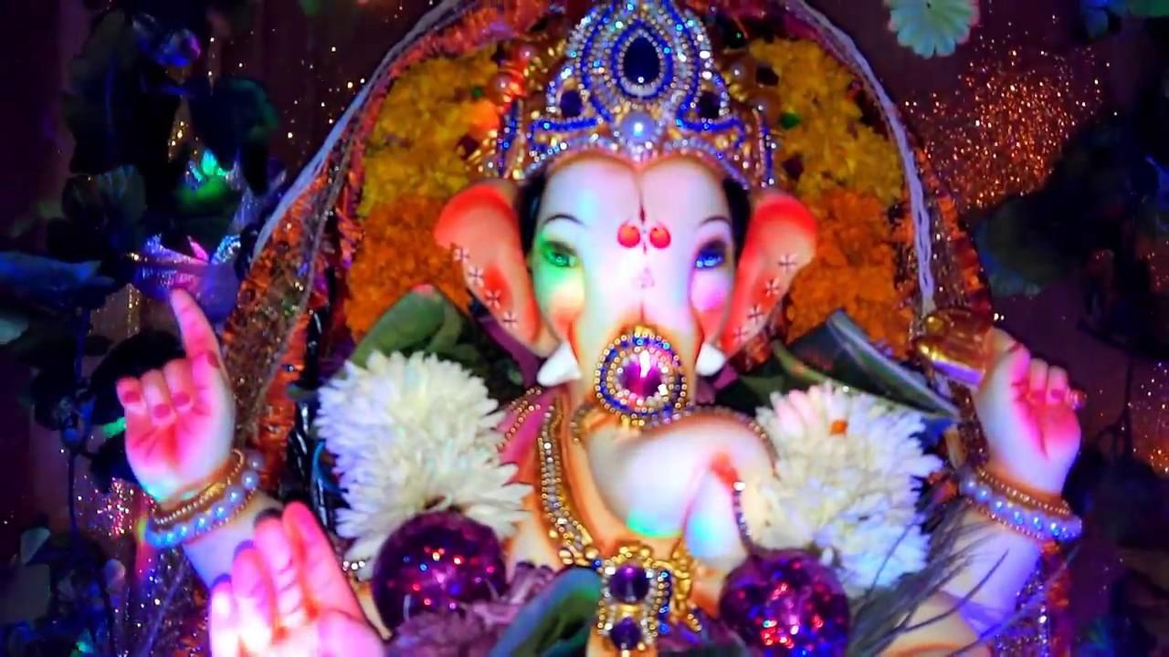Beautiful Ganpati Decoration At Home By Artwork123 Youtube