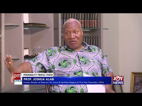 Personality Profile: Prof. Joshua Alabi – PM Express on JoyNews (11-6-21)