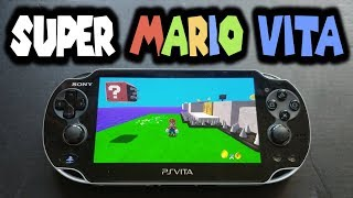 Super Mario Vita Demo! CPU/GPU Overclock Gameplay!