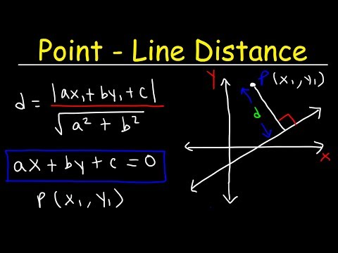 Distance Between a Point and a Line In 2D & 3D - Geometry