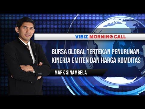 Bursa Global Tertekan Penurunan Kinerja Emiten dan Harga Komoditas, Vibiznews 22 Oktober 2015